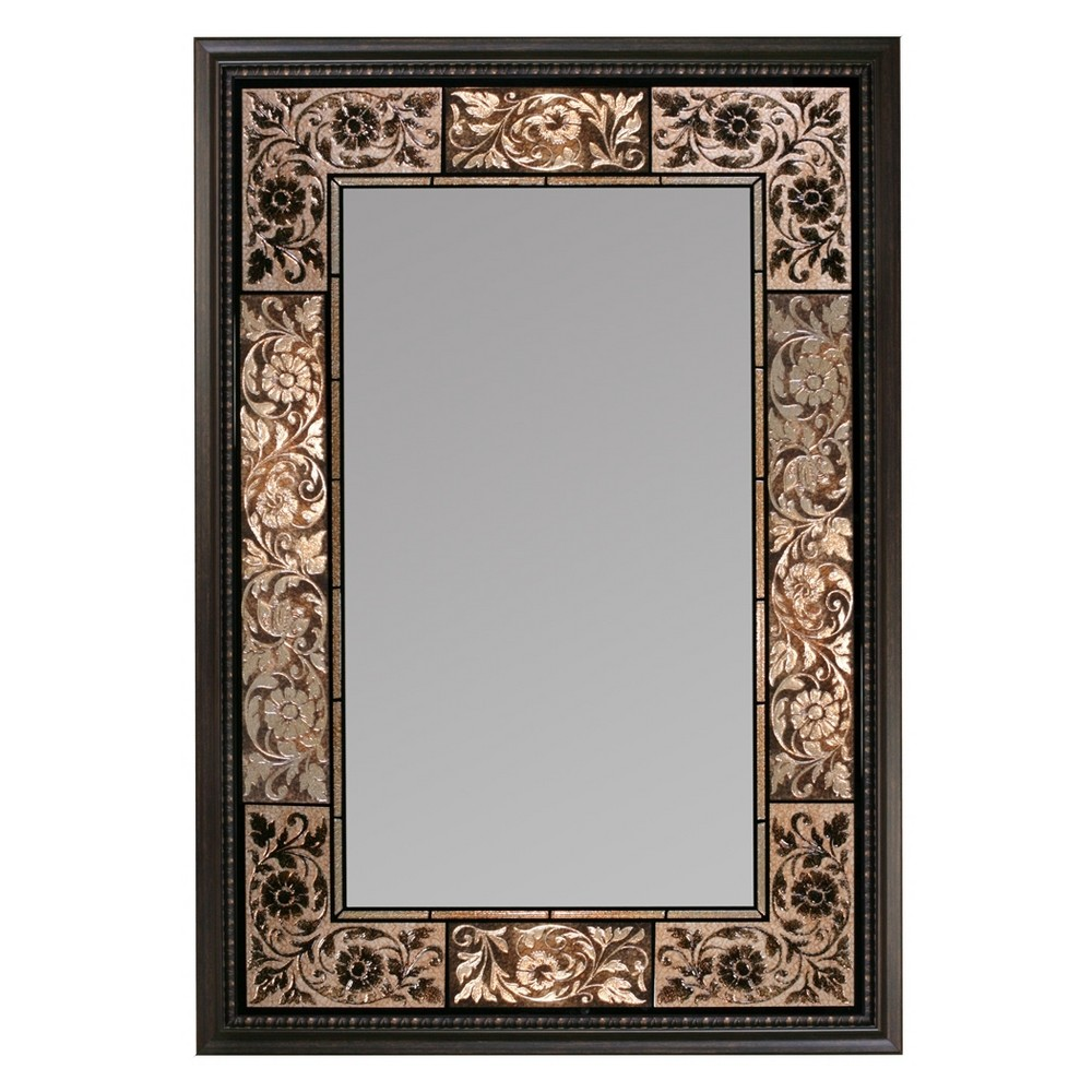 "Image of ""Head West 25"""" x 37"""" French Tile Rectangle Mirror"""