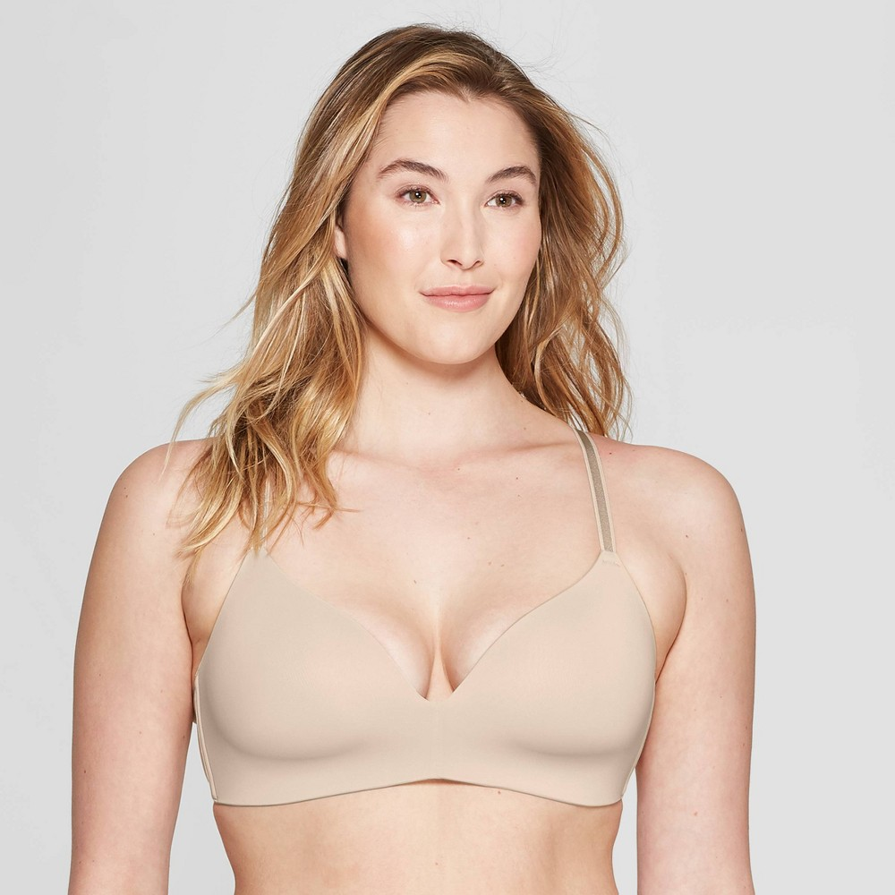 Womens Bliss Lightly Lined Wirefree Bra - Auden Soft Beige 36DDD Top