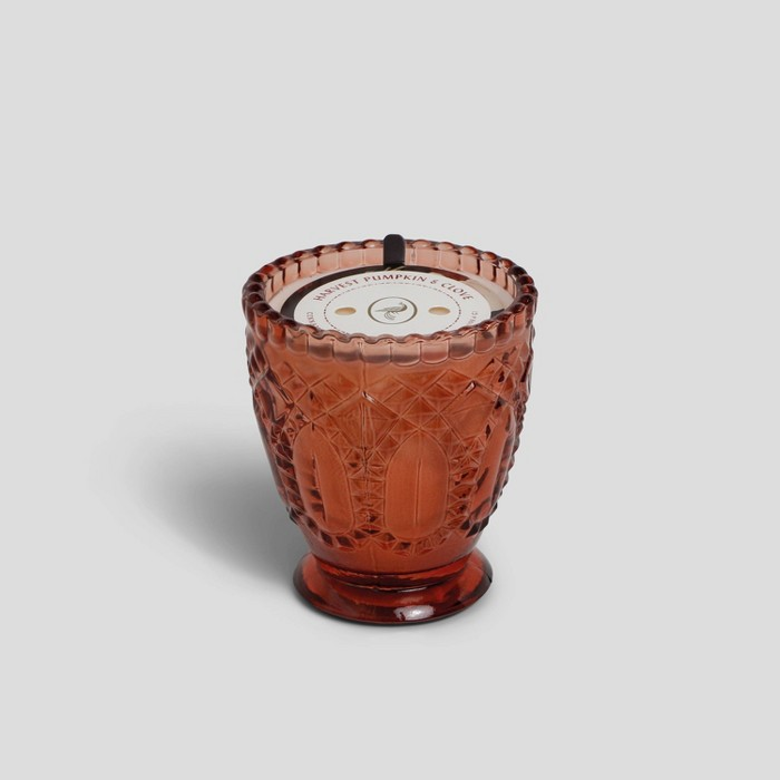 7oz Footed Glass Jar Candle Harvest Pumpkin & Clove - Opalhouse™ - image 1 of 2