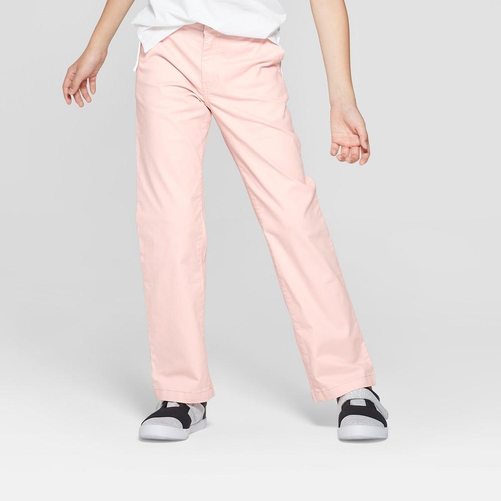 Boys' Chino Pants - Cat & Jack Light Pink 10 Husky