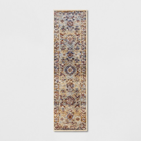 Persian Medallion Shag Rug Blue - Threshold™ - image 1 of 3
