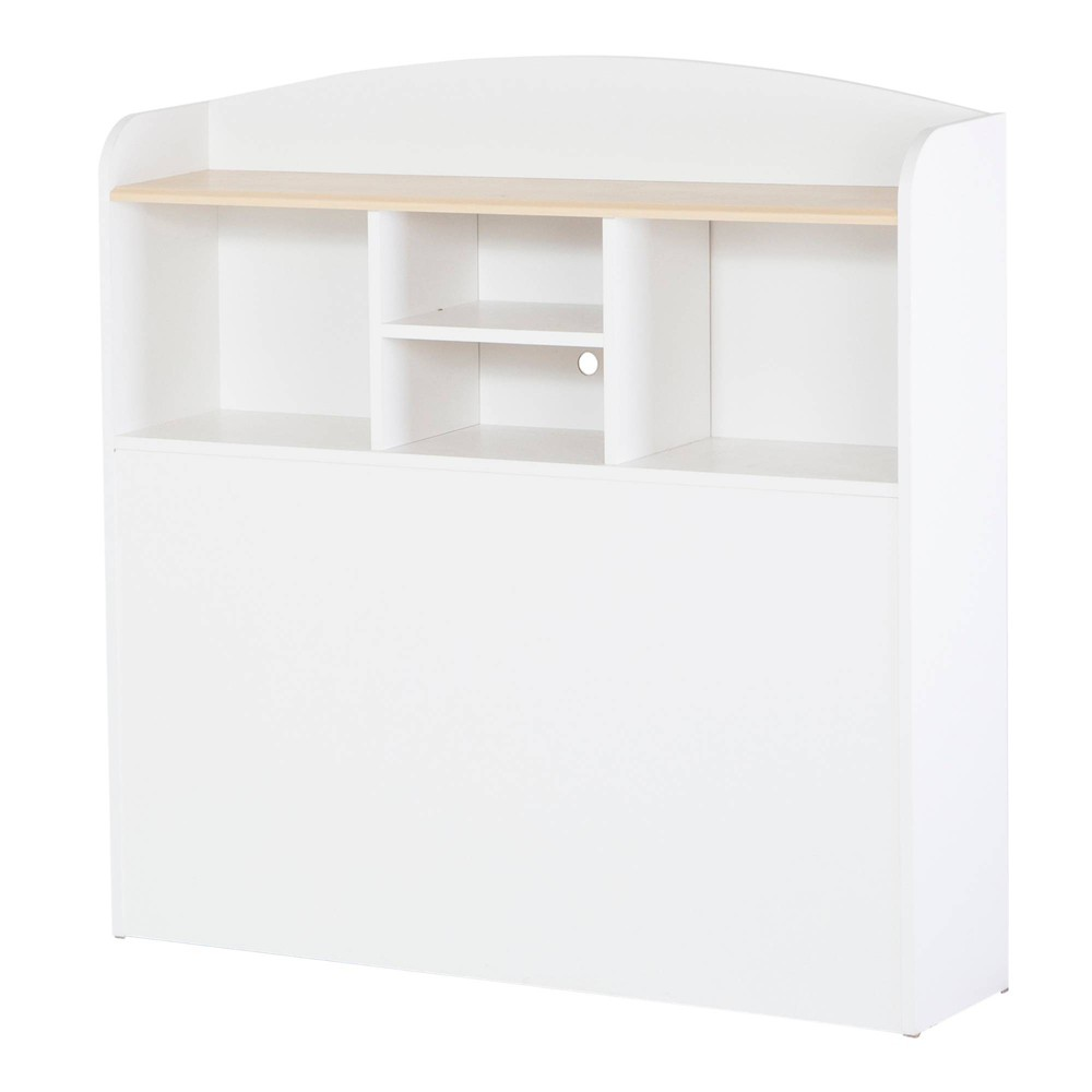 Image of Bookcase Kids Headboard White/Maple (Twin) - South Shore