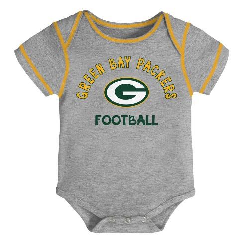 777e3e85 NFL Green Bay Packers Baby Boys' Newest Fan 3pk Bodysuit Set - 18M