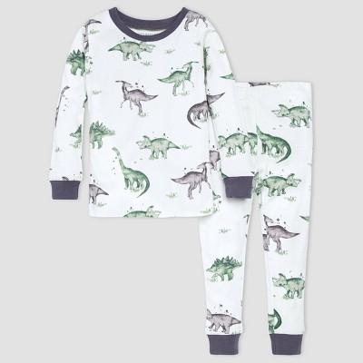 Burt's Bees Baby® Boys' 2pc Dino Pajama Set - Gray