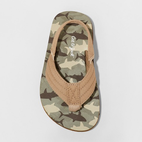 4156ececf9a2c Toddler Boys' Henry Camo Flip Flop Sandals - Cat & Jack™ Brown. Shop all Cat  & Jack