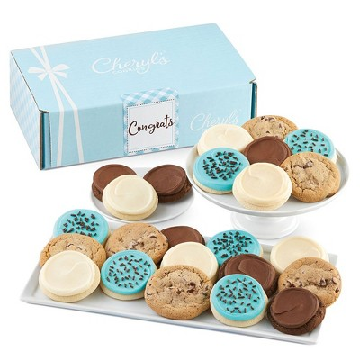 Cheryl's Cookies Congrats Gift Box Classic Cookie Gift Assortment (24 Cookies)