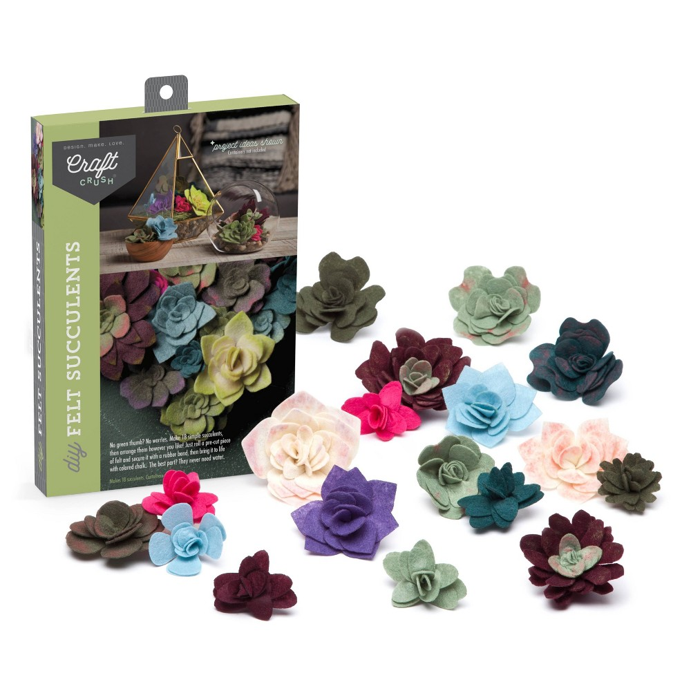 Image of Craft Crush Felt Succulent DIY Art & Craft Kit