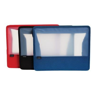 "Staples 3"" Zip Wallet Letter Size Assorted (51815) TR51815/51815"