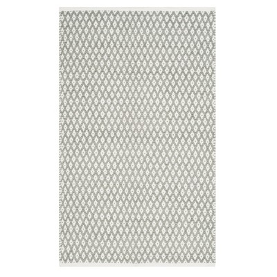 Gray Geometric Flatweave Tufted Accent Rug 3'X5' - Safavieh