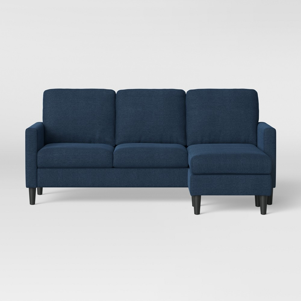 Bellingham Sofa With Chaise Dark Blue - Project 62