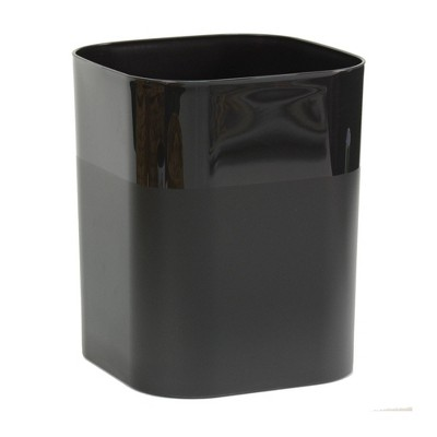 Plastic Bathroom Wastebasket Black - Room Essentials™