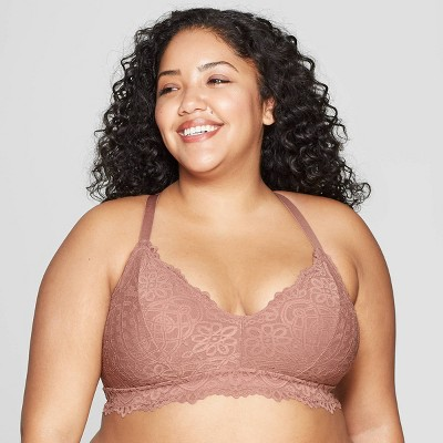 3573ceac47 Women s Plus Size Racerback Bralette - Auden™ Orange Berry 1X   Target