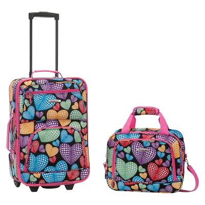 Rockland Fashion 2pc Luggage Set - New Heart