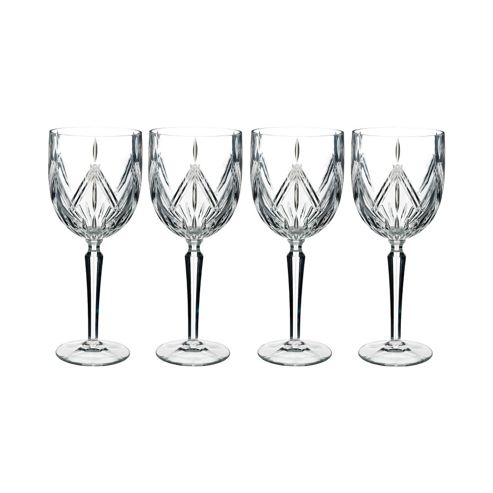 Image of Marquis By Waterford Lacey 15oz 4pk Crystal Wine Glasses, Clear