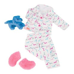 "Our Generation Pajama Outfit for 18"" Dolls - Counting Puppies"