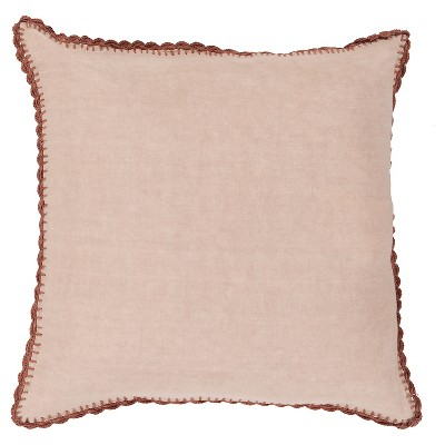 Beige Velletri Throw Pillow 20 x20  - Surya