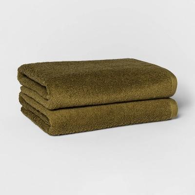 2pk Bath Towel Set Green - Room Essentials™