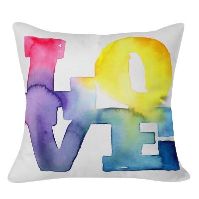 Pink Cmykaren Love Throw Pillow (20 x20 )- Deny Designs®