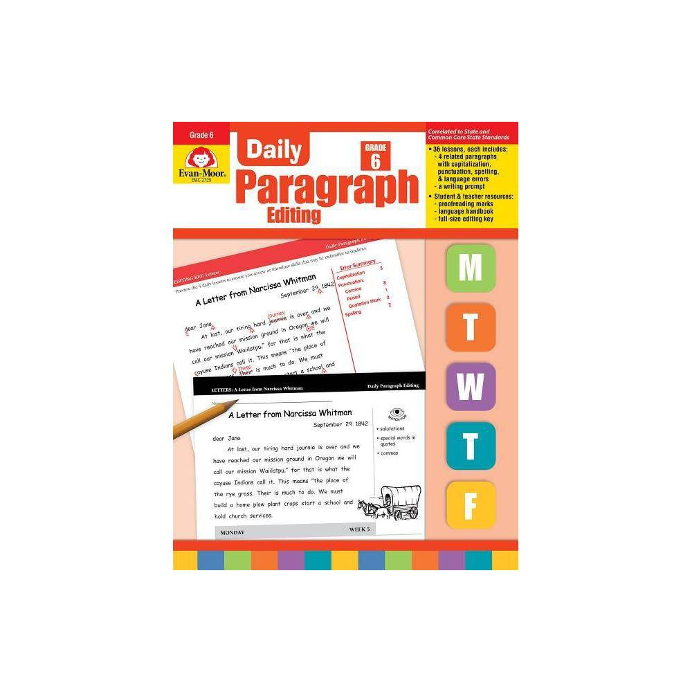 Daily Paragraph Editing Grade 6 By Evan Moor Educational Publishers Paperback