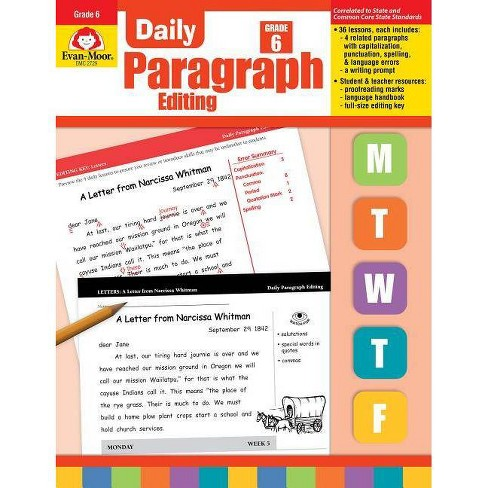 Daily Paragraph Editing Grade 6+ - by  Evan-Moor Educational Publishers (Paperback) - image 1 of 1