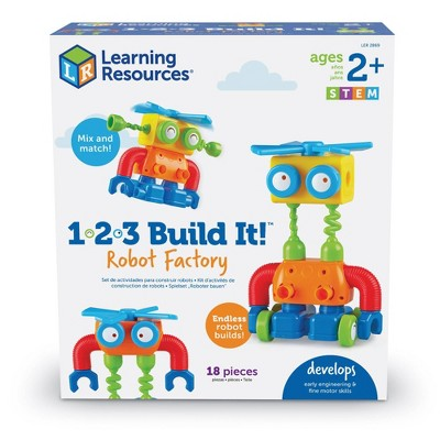 Learning Resources 1-2-3 Build It! Robot Factory