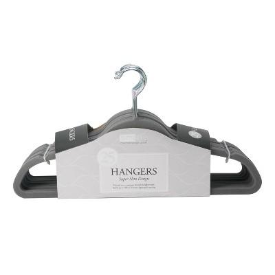 Simplify 25pk Slim Velvet Suit Hangers Gray