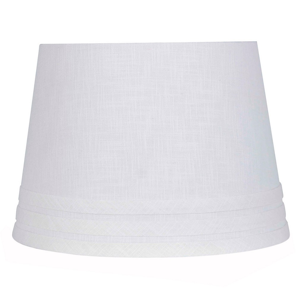 Small Mod Drum Trim linen Lampshade White - Threshold