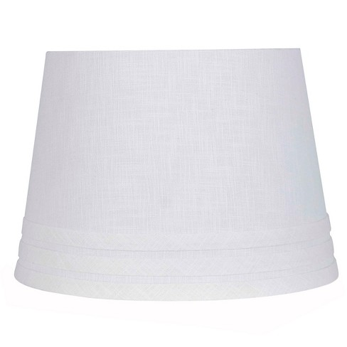 Small Mod Drum Trim linen Lampshade White - Threshold™ - image 1 of 1