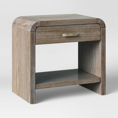 Zebrina Wood Nightstand with Drawer Natural - Opalhouse™