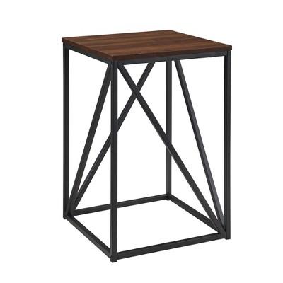 "16"" Modern Geometric Square Side Table - Saracina Home"