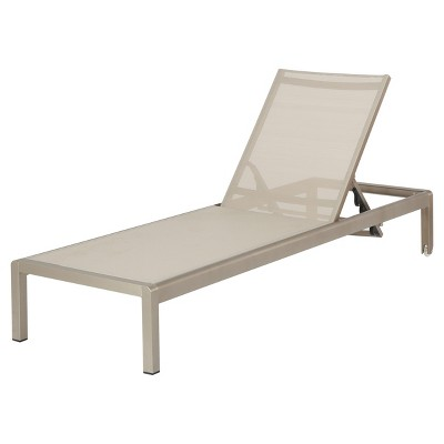 Cape Coral Aluminum & Mesh Chaise Lounge - Christopher Knight Home