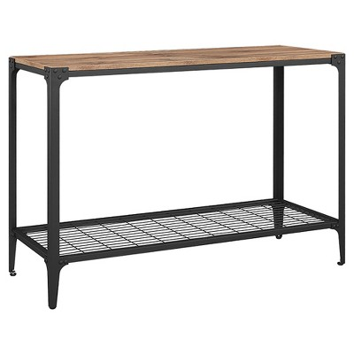 Angle Iron Rustic Wood Sofa Entry Table - Saracina Home