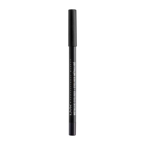 NYX Professional Makeup Metallic Eyeliner Black Metal - 0.05oz - image 1 of 2