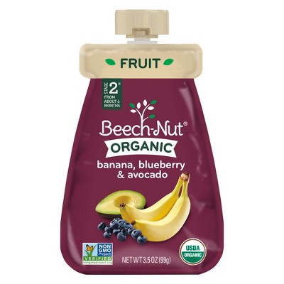 Beech-Nut Organic Pouch Banana, Blueberry & Avocado - 3.5oz