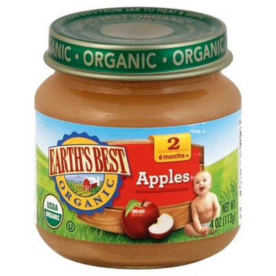 Earth's Best Stage 2 Organic Apples - 4oz