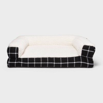Window Pane Plaid Pillow Couch Dog Bed - Boots & Barkley™