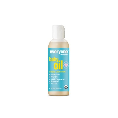 Everyone Simply Unscented Organic Baby Oil - 4oz