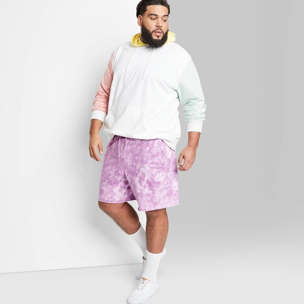 Men 39 S Big 38 Tall 8 5 34 Regular Fit Knit Jogger Shorts Original Use 8482 Lavender 2xbt