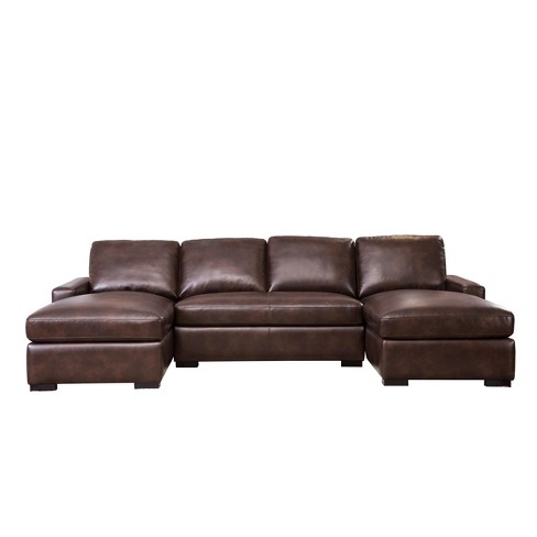 Montana Oversized Sectional Brown - Abbyson Living - image 1 of 4
