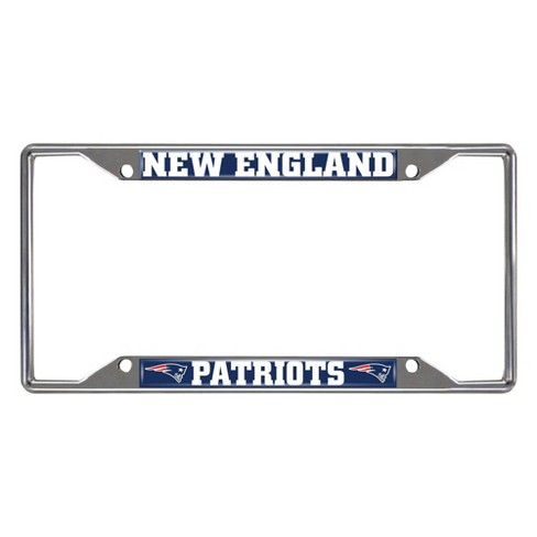 NFL New England Patriots Stainless Steel License Plate Frame - image 1 of 3