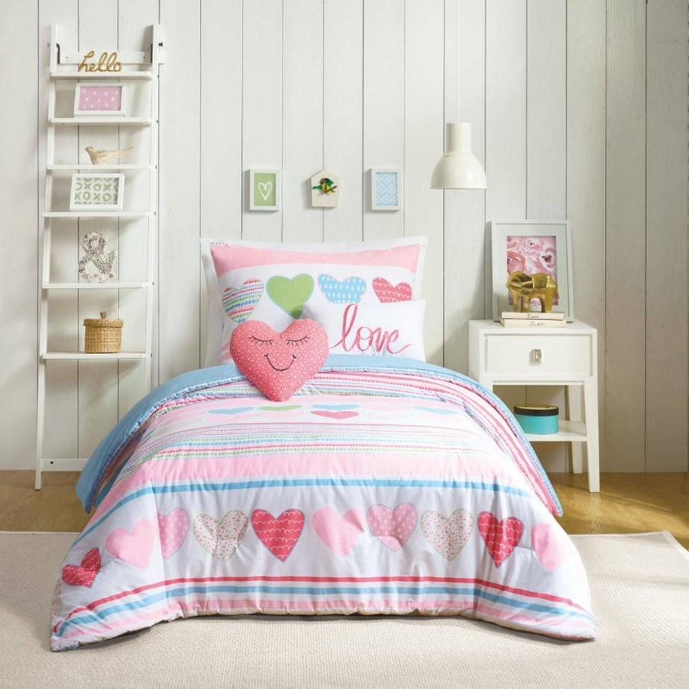 4pc Twin Daphne Comforter Set Pink Urban Playground