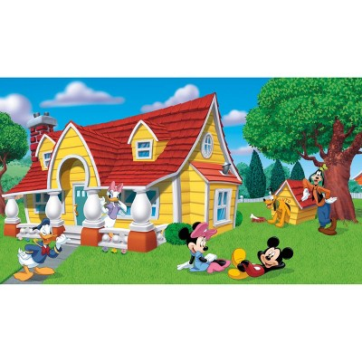 6'x10.5' Mickey and Friends Chair Rail Prepasted Mural Ultra Strippable - RoomMates