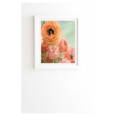 """Bree Madden Spring Ranunculus Framed Wall Art 14"""" x 16.5"""" - Deny Designs"""