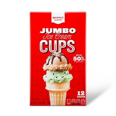 Ice Cream Cones & Toppings: Market Pantry Jumbo Ice Cream Cups