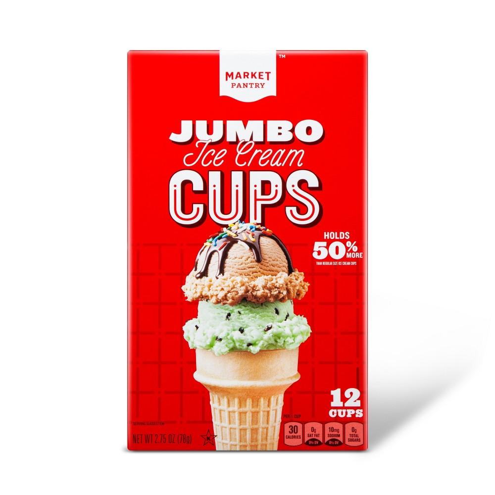 Jumbo Ice Cream Cups - 12oz - Market Pantry