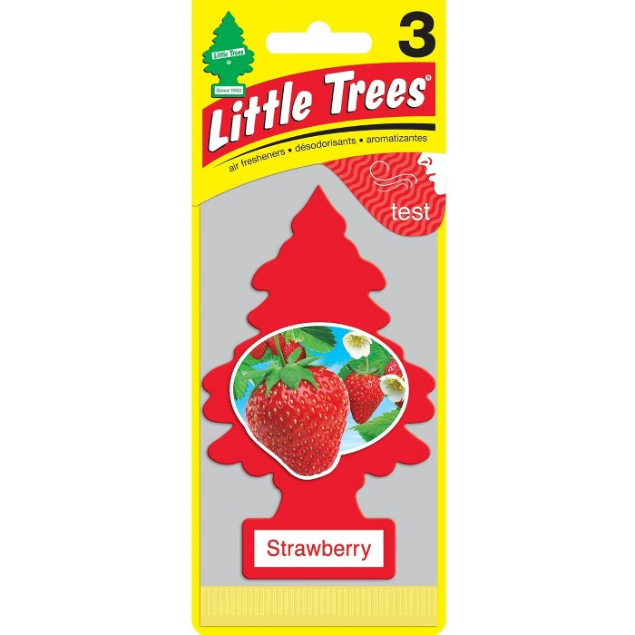 Little Trees® Strawberry Air Freshener 3pk - image 1 of 1