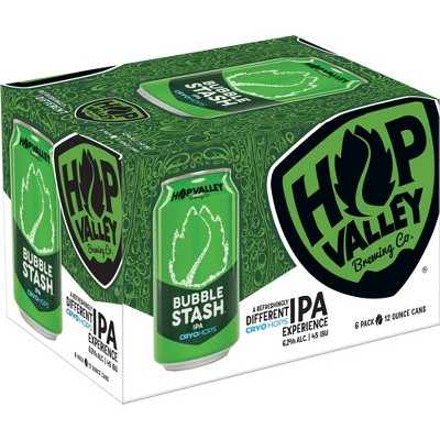 Hop Valley Bubble Stash IPA Beer - 6pk/12 fl oz Cans