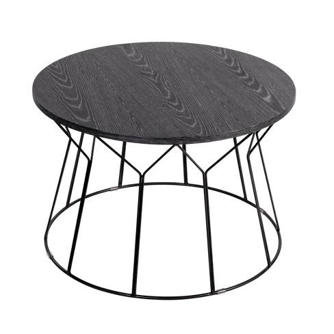 Fleur Coffee Table Noir Black - Adore Decor - image 1 of 4