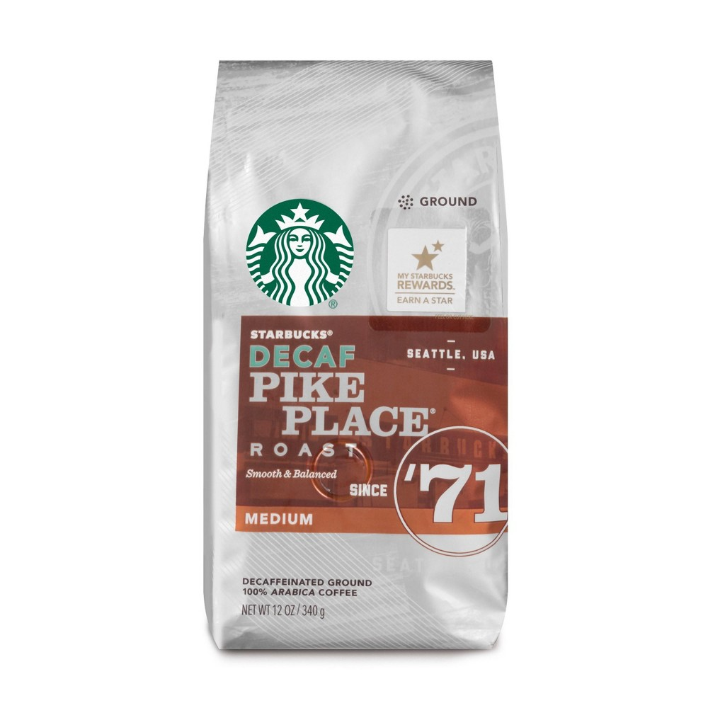 Starbucks Decaf Pike Place Roast Medium Roast Ground Coffee - 12oz