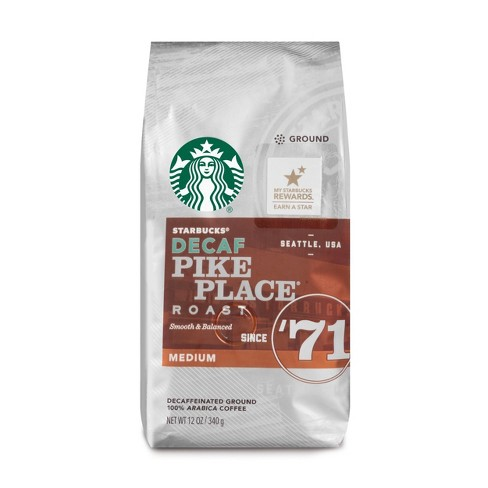 Starbucks Decaf Pike Place Roast Medium Roast Ground Coffee - 12oz - image 1 of 3